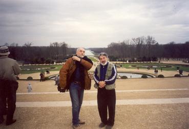 Франция. Версаль. Г.Попов и журналист И.Попов
